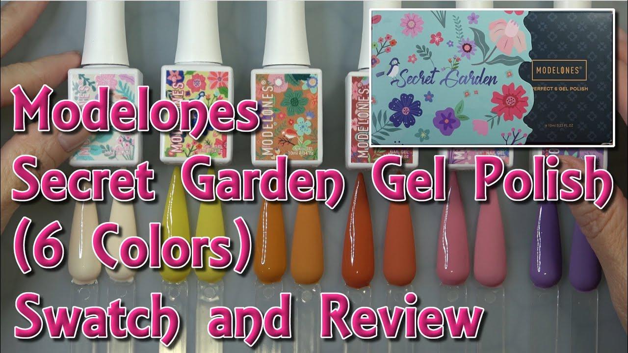 Modelones Secret Garden Swatch & Review! 6 BEAUTIFUL Gel Polishes!