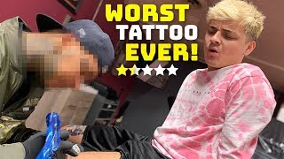 Getting A Tattoo From The Worst Reviewed Tattoo Shop In My City (1 STAR) thumbnail
