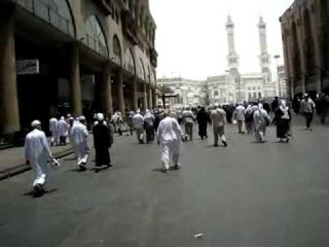 A walk from hotel to Al-Masjid al-Haram, Mecca