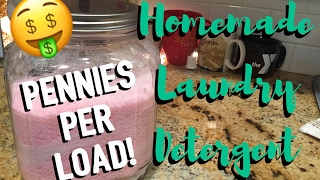 Homemade Laundry Detergent | Pennies Per Load | Recipe Plus Demo