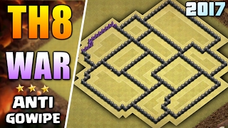 NEW TOWN HALL 8 WAR BASE 2017 ♦ BEST TH8 ANTI - GOWIPE & GROUND ATTACK WAR BASE | CLASH OF CLANS
