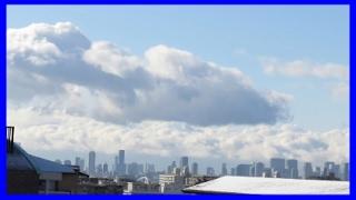 タイムラプス【大阪に現れた雪雲と突然の吹雪】