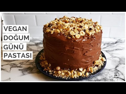 Vegan Doğum Günü Pastası!   Yumurtasız, Sütsüz Pasta
