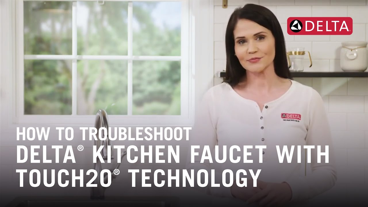 How To Troubleshoot A Delta Kitchen Faucet With Touch2o Technology Youtube