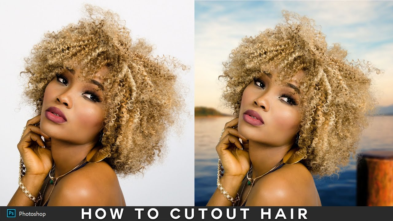 How to Cutout Hair Without Fringing in Photoshop - Hair Masking Easy & Fast  !!!