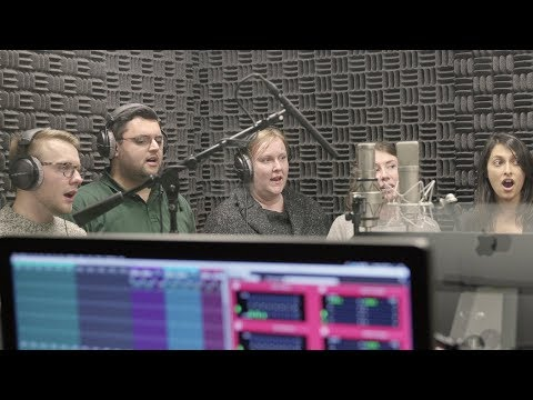 Amazon employees sing with Alexa