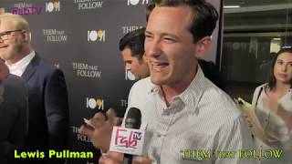 """Actor 'Lewis Pullman' at the """"THEM THAT FOLLOW""""  premiere"""