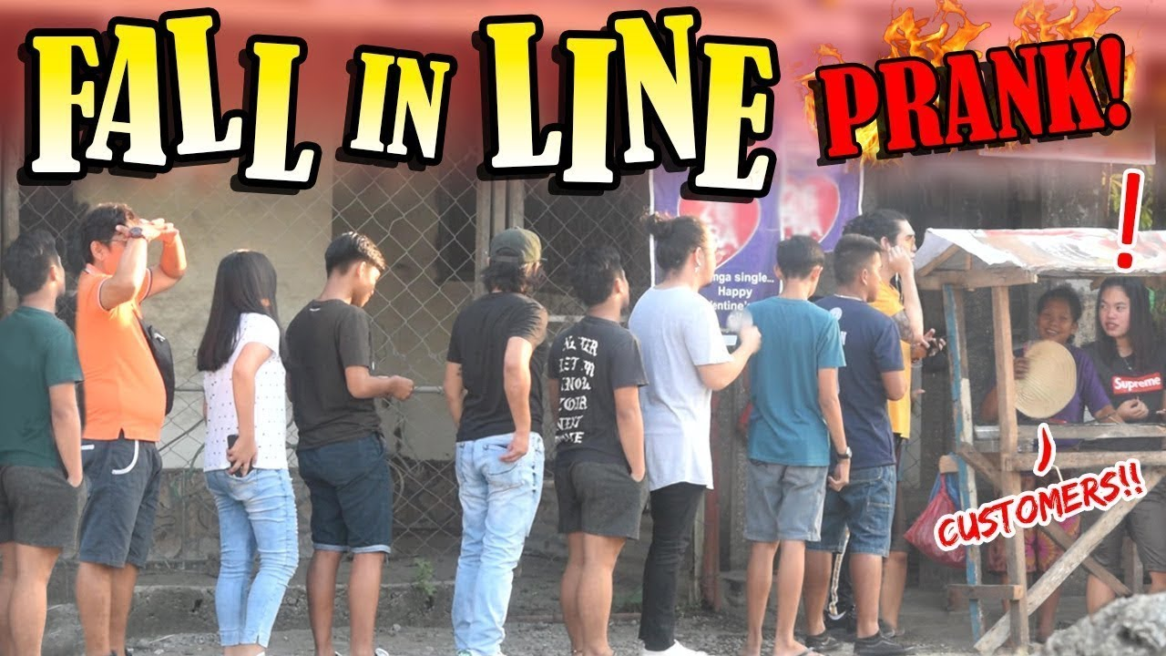 Fall In Line Prank