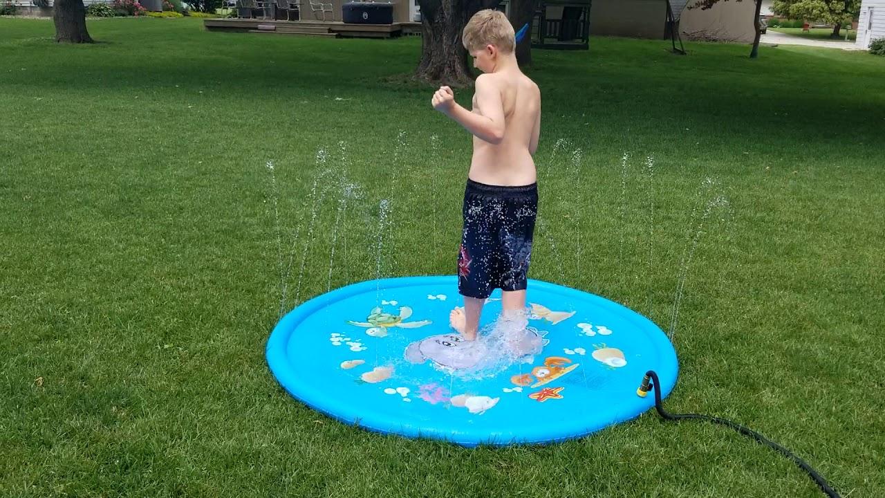 Download Luchild Splash Pad 68'' Summer Outdoor Water Play Mat