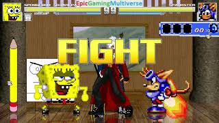 Devil May Cry Characters And DoodleBob And SpongeBob VS Sparkster In A MUGEN Match / Battle / Fight