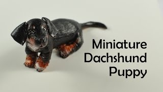 Miniature Dachshund Puppy - Polymer Clay Tutorial