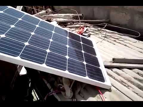 Solar system for home 150 watts Mono Solar Panel+Solar fan+ in Shah Faisal Colony Karachi Pakistan