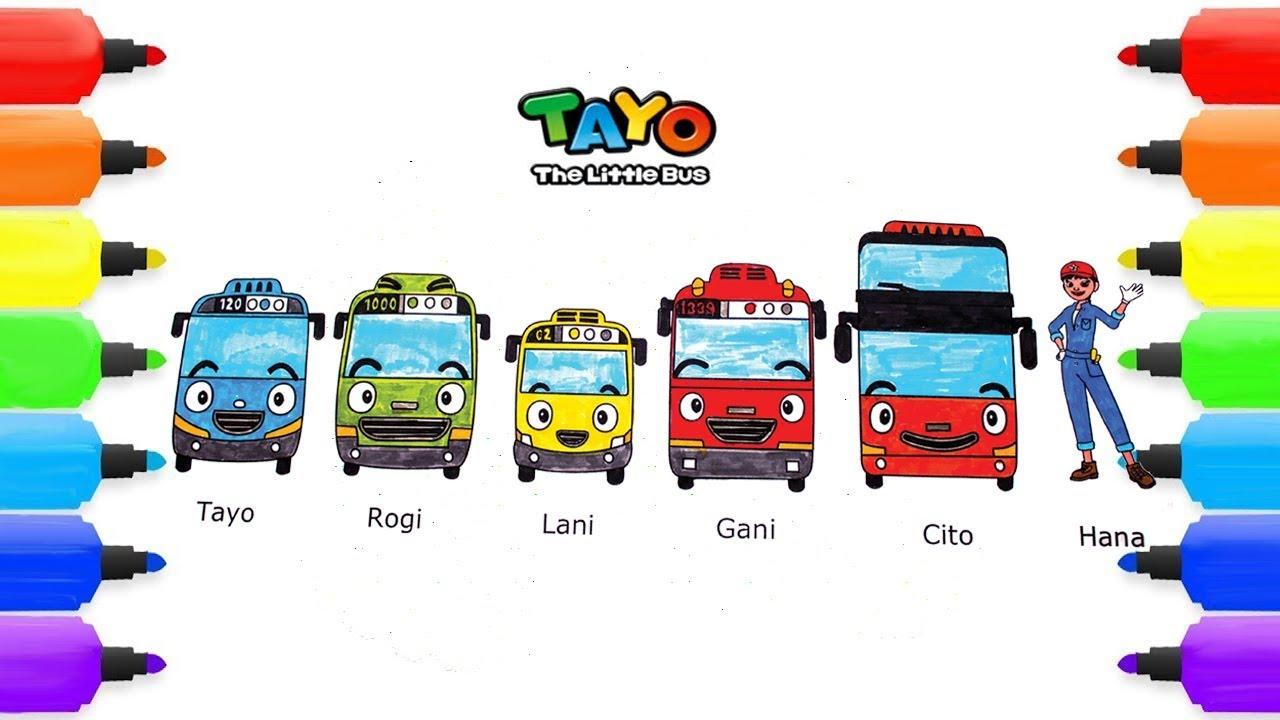 How To Draw The Tayo Rogi Lani Gani Cito And Hana Tayo The Little