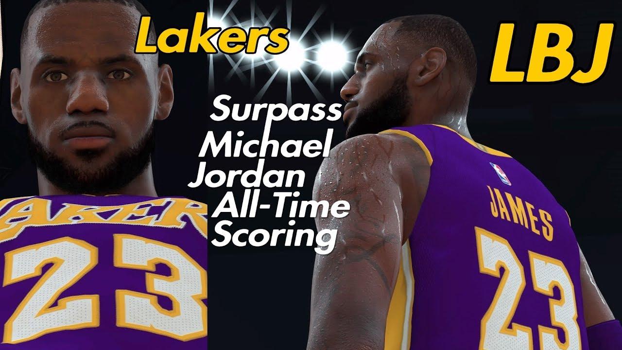design de qualité 6c9ad ce183 NBA 2K19 Rosters: LeBron James Surpass Michael Jordan (Contribute Film)