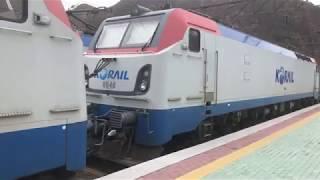 석포역 컨테이너 화물열차 출발 영상