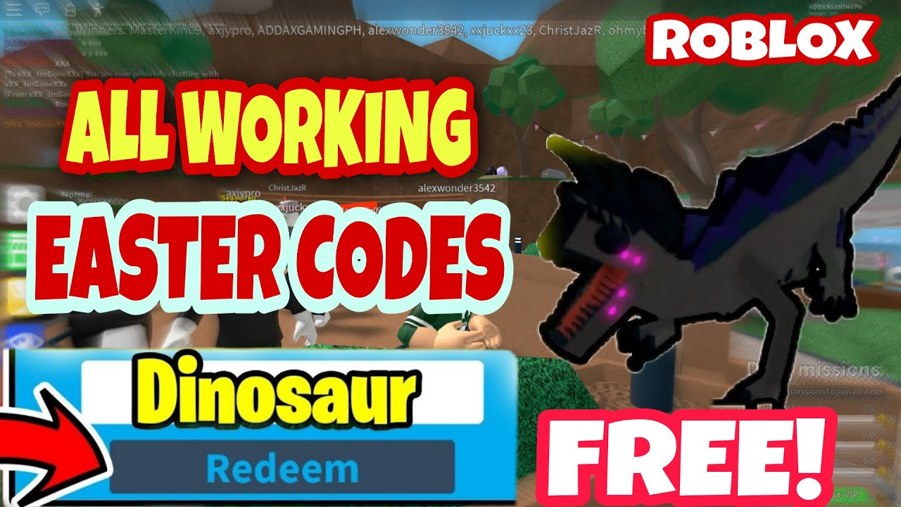 All New Secret Easter Working Codes Dinosaur Simulator Roblox