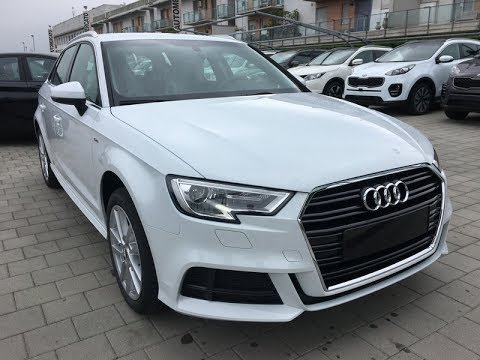 audi a3 sportback 1 6 tdi 116 cv business s line exterior km0 bianco ghiaccio youtube. Black Bedroom Furniture Sets. Home Design Ideas