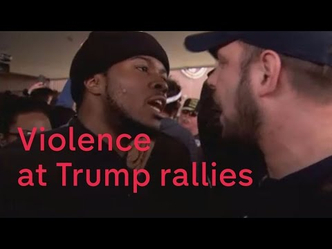 Donald Trump responds to violence at his rallies