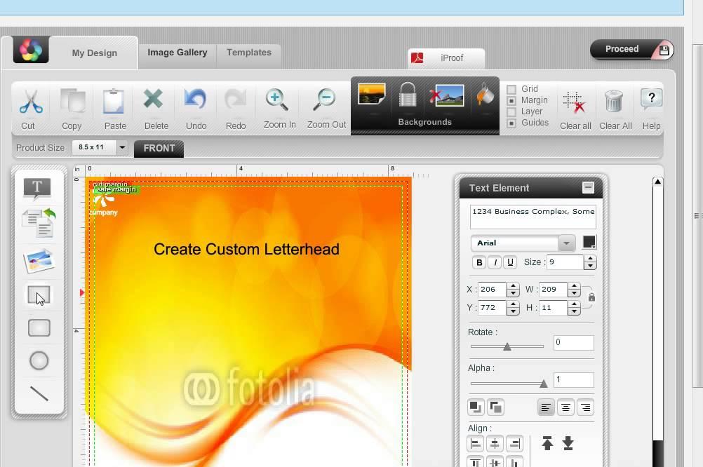 make a letterhead online free