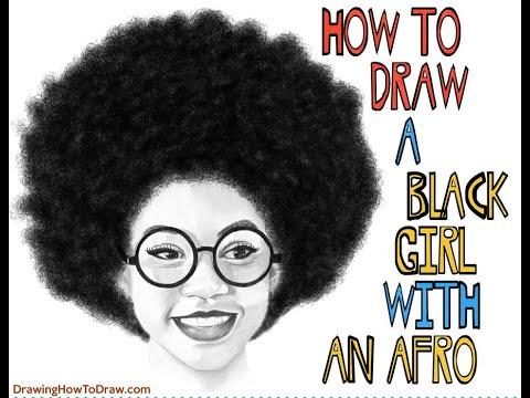 Afro black girl Black Girl