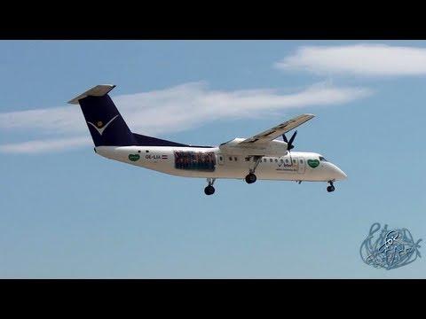 InterSky - De Havilland Canada DHC-8-300 Dash 8  OE-LIA - Landing At Split Airport