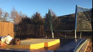 Trampoline Face And Shoulder Slam Fail