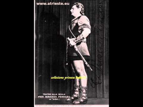 AIDA...celeste Aida tenore Pier Miranda FERRARO Milano 1960