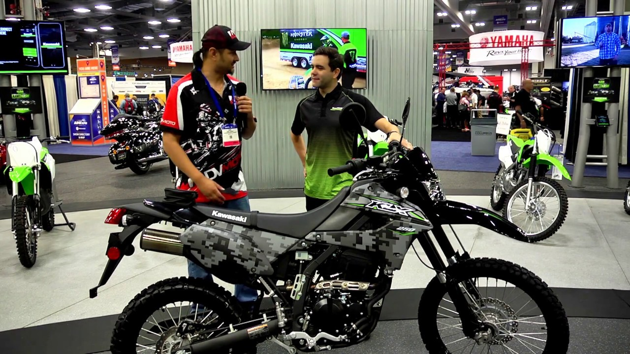 AIMExpo 2017 Day 1 Report - Kawasaki 2018 KLX 250, Twisted Throttle,  Wolfman, and more    and more