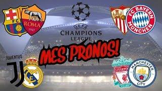 MES PRONOS POUR LES QUARTS DE FINALES DE LA CHAMPIONS LEAGUE!