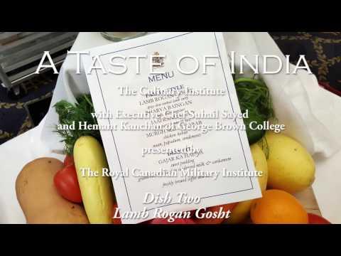 RCMI - The Culinary Institute: A Taste of India Part 2 - Lamb Rogan Gosht