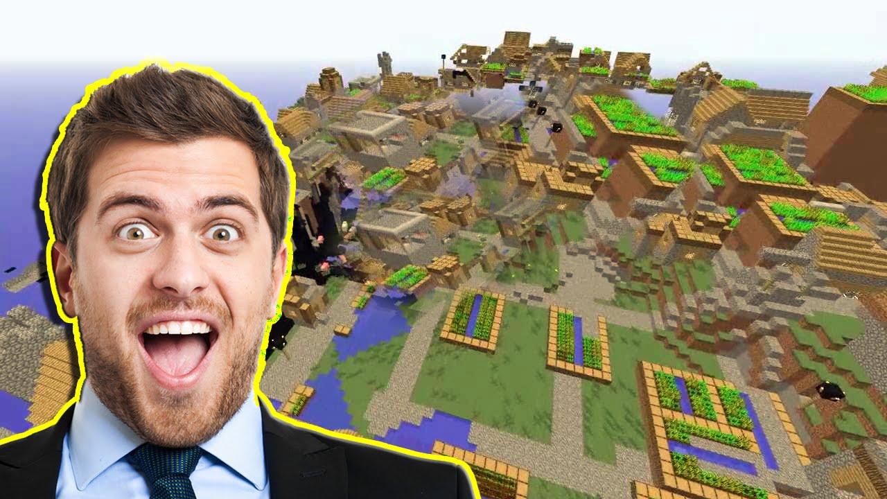 MINECRAFT CITY?! Seed! - YouTube