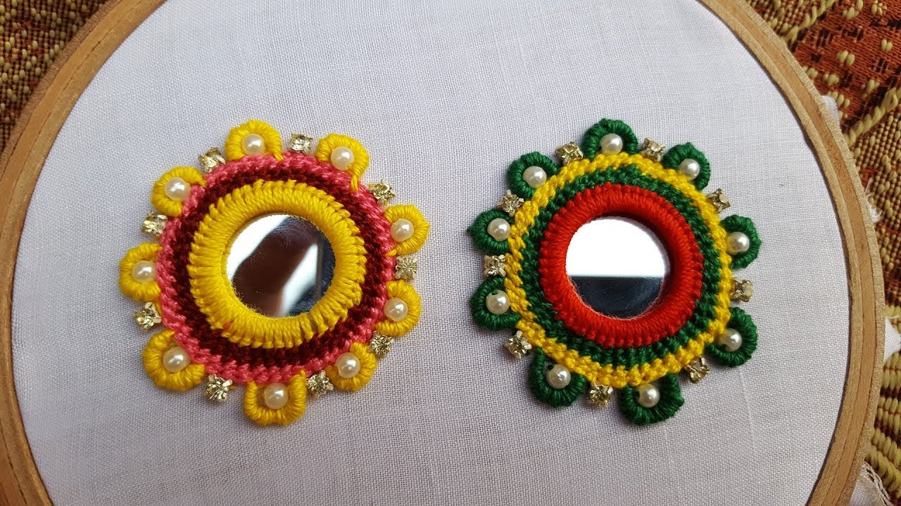Hand Embroidery Mirror Work Multi Shades Blous New Design Hand Work