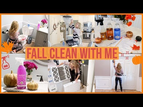 FALL CLEAN WITH ME 2019 | EXTREME CLEANING MOTIVATION ALL DAY AUTUMN CLEANING TO DO LIST | Brianna K