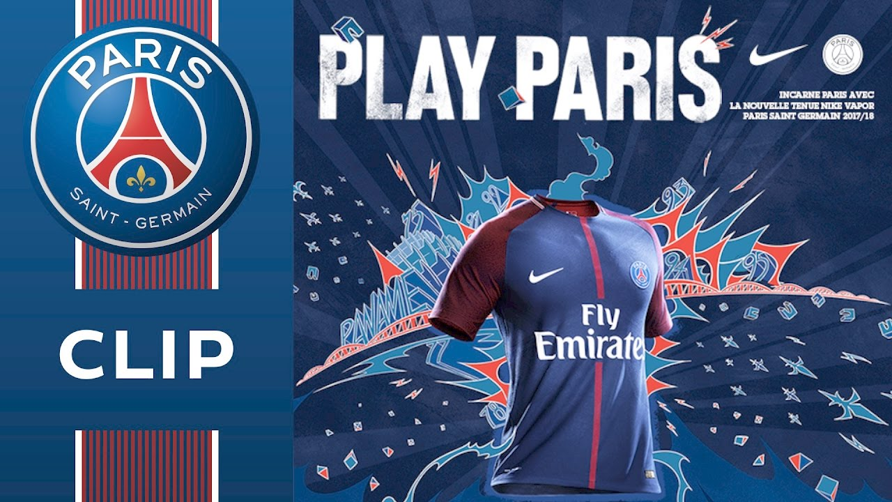 home shirt 2017 2018 paris saint germain youtube. Black Bedroom Furniture Sets. Home Design Ideas