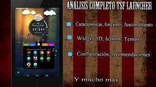 TSF Shell 3D - Análisis completo - Personalización Android - Best Launcher 2014
