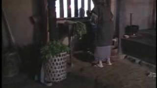 小作人の家の内部:江戸時代