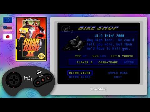 Secret Bike Cheat For Road Rash II On The Mega Drive [subtitles Available]