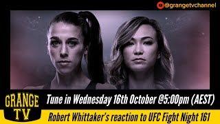 #60 Robert Whittaker reaction to UFC Fight Night 161