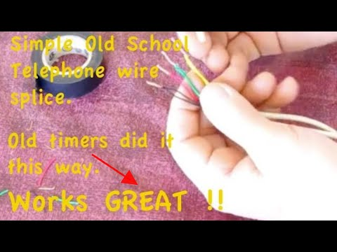 Fix cut phone wire. Splice method no parts needed Like old timers