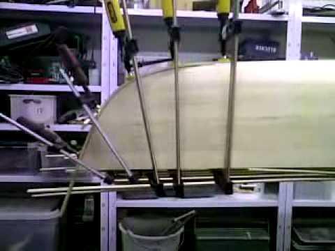 Endeavour 17 - Strip bygget havkajak - plastik træ og yderste kølliste