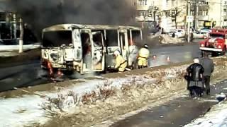 Горит автобус чебоксары
