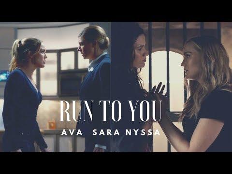 Run To You || Sara Lance + Ava Sharpe + Nyssa Al Ghul