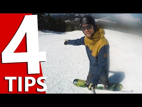 4 Tips to Point Your Snowboard Straight Downhill - Beginner Turns