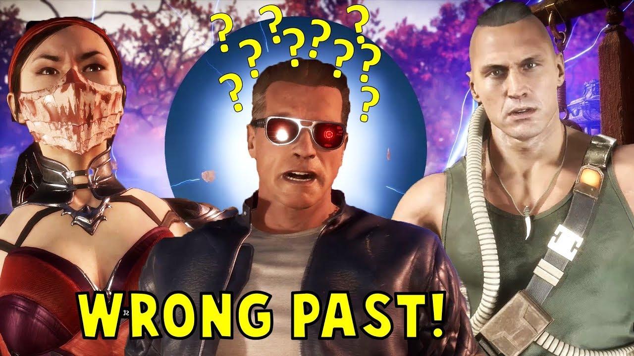 Terminator Stuck in Wrong Past & Talks About His Endoskeleton Technology - Mortal Kombat 11 (MK1