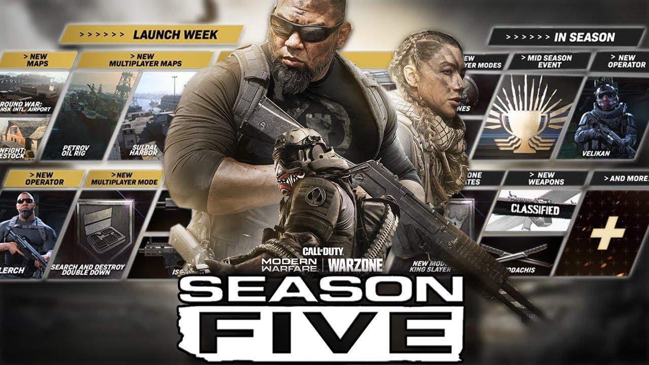 Modern Warfare Everything Coming In Season 5 Youtube