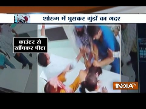 CCTV Footage: Gang Attacked at Retail Showroom in Ludhiana