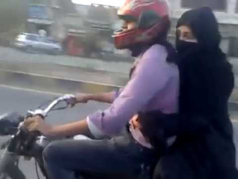 Boy Wheeling On Bike With His Girl Friend Youtube