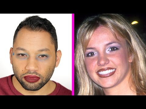 Thumbnail: Guys Try '90s Makeup Trends