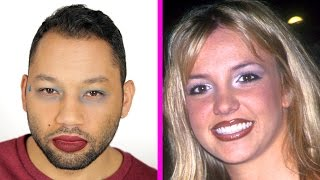 Guys Try '90s Makeup Trends