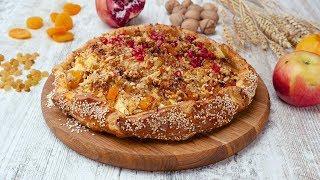 Открытый пирог с творогом, яблоками и курагой - Рецепты от Со Вкусом